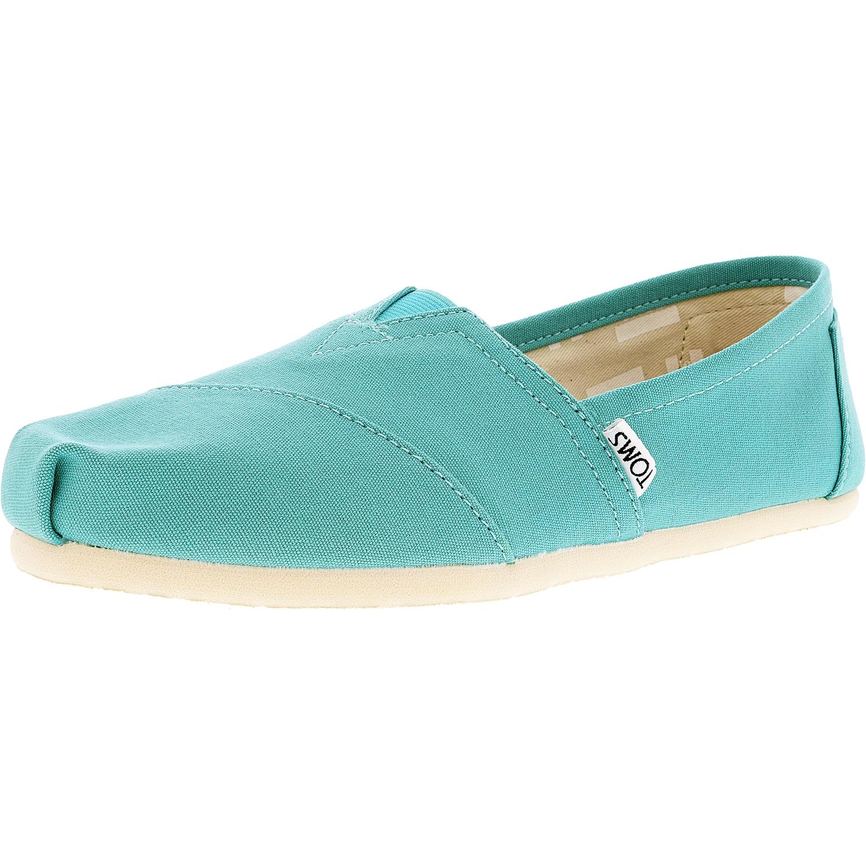 Classique Toile Turquoise De Toile De Cheville Haute Femmes Toms Chaussures Plates - 7 M UDbPLOQQIN
