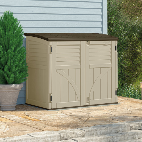 Suncast Utility 4.5 ft. W x 2.5 ft. D Plastic Horizontal Garbage Shed