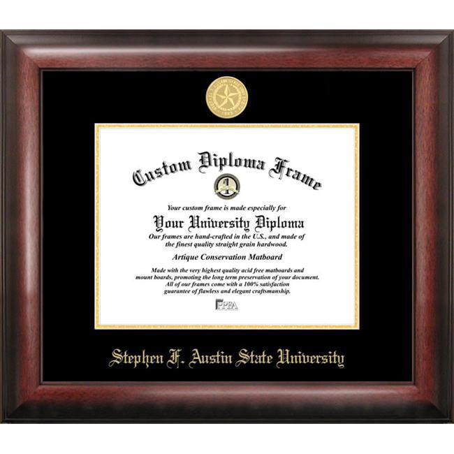 Stephen F Austin Gold Embossed Diploma Frame