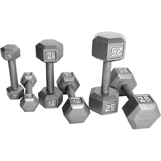 CAP Barbell  20-piece Cast Iron Hex Dumbbell Set