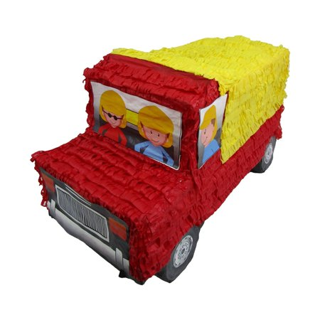 Dump Truck Pinata, Party Game, 3D Centerpiece Decoration and Photo Prop for Construction Themed Birthdays for $<!---->