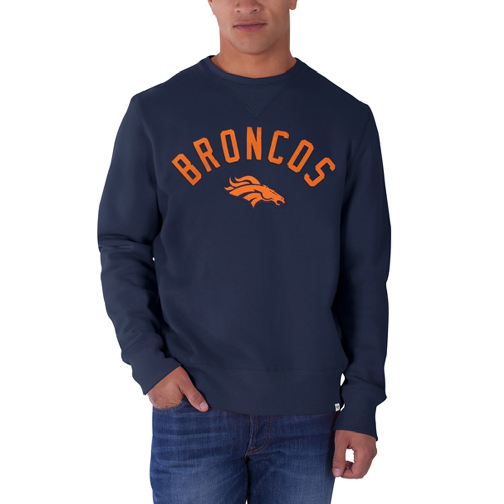 Denver Broncos - Logo Cross Check Premium Crewneck Sweatshirt