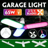 Garage Light, 60W 5000 Lumen Ceiling Lights LED Utility Shop Lights for Garage/Basement/Home, E27 LED Deformable Garage Light Ceiling Fixture Bright Light Garage Lamp