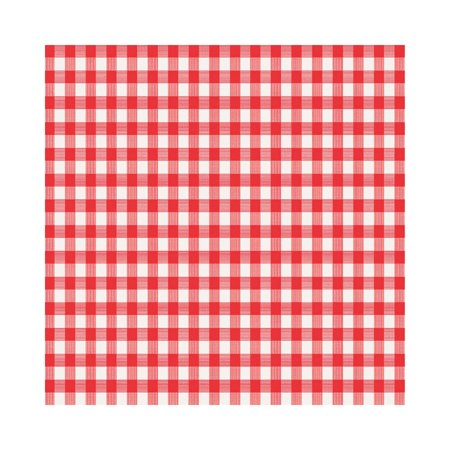 Magic Cover TBL-MC572-36 Checkered Tablecloth, Red/White, 90