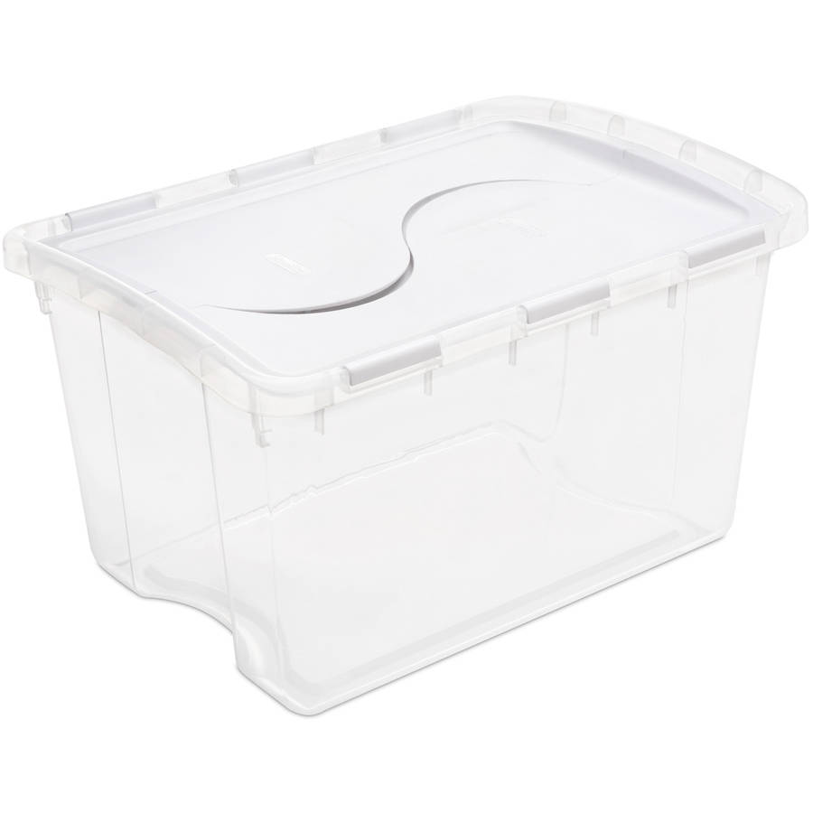 Sterilite 48 Quart Hinged Lid Storage Box- White (Available in Case of 6 or Single Unit)