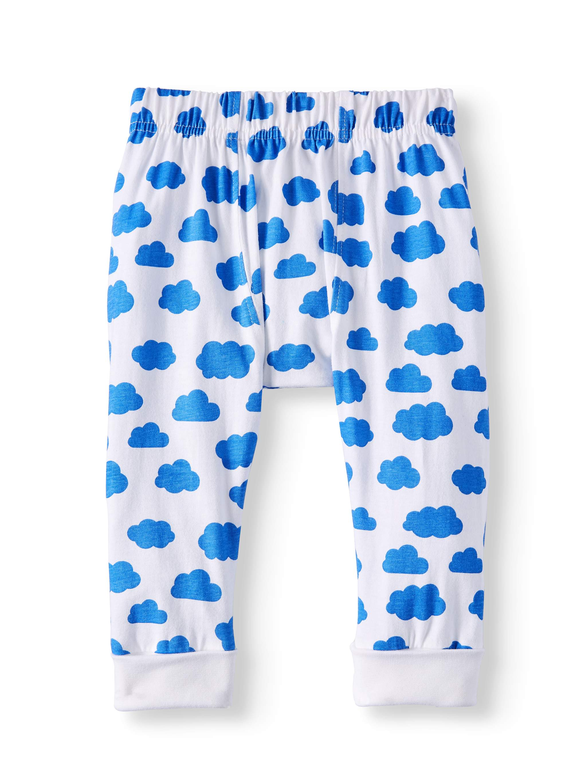 Coyote & Co. Newborn Baby Boys' Cloud Print Knit Pant