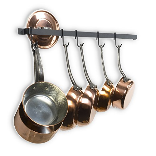 Castro 30 Inches Long Wall Mounted Hanging Kitchen Organizer Strong Iron  Gourmet Kitchen Bar Wall Pot