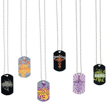 Dog Jewelry Dogs (Fun Express - Tween Religious Dog Tags - Jewelry - Necklaces - Dog Tag Necklaces - 12)
