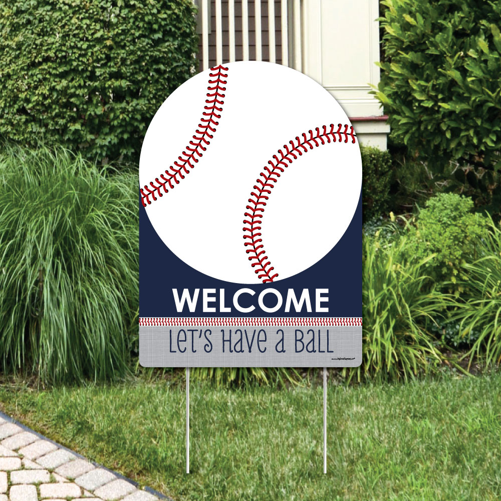 Batter Up - Baseball - Party Decorations - Birthday Party or Baby Shower Welcome Yard Sign