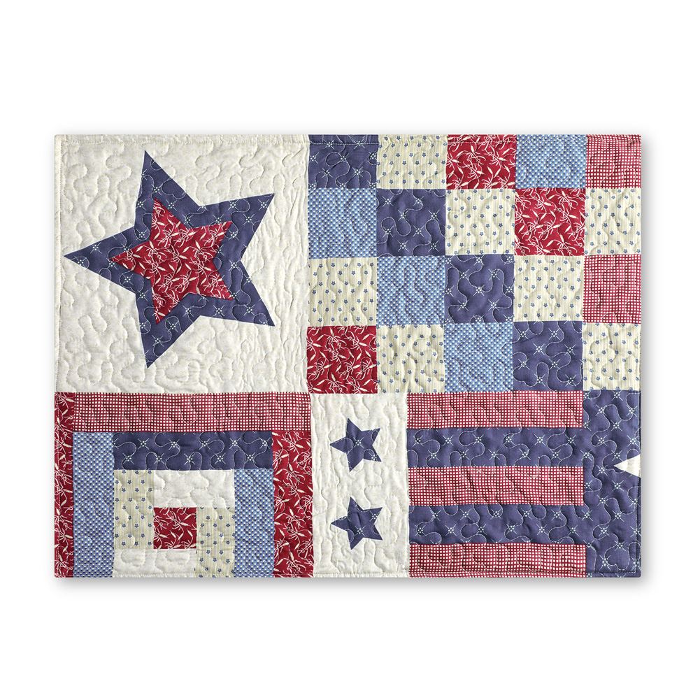Patriotic Country Home Americana Quilted Bedding Pillow