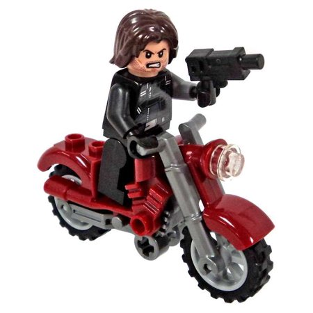 LEGO Marvel Captain America: Civil War Winter Soldier with Motorcycle Minifigure