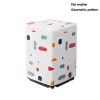 Washer/Dryer cover For Top/Front-loading machine, Waterproof dustproof Thicker, PEVA Zippered Washing Machine Dryer Cover Dust Protection