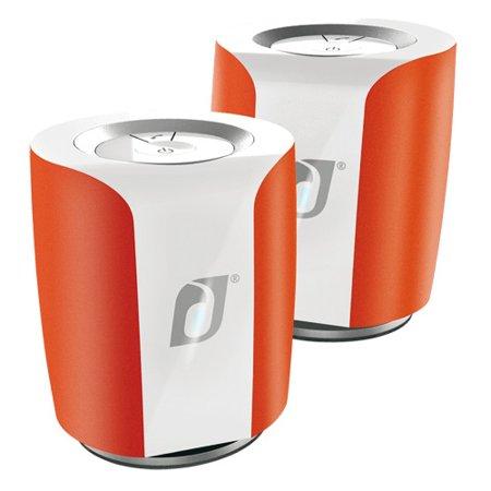 Damson Audio Jet Portable Wireless Bluetooth Stereo Speaker Pair - Red
