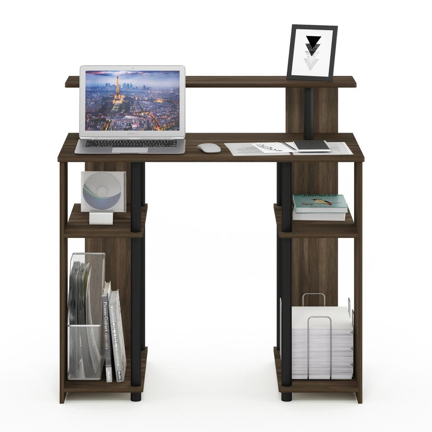 Furinno Jaya Simple Design Computer Writing Desk, .1 Pack Walnut