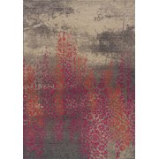 Moretti Prism Area Rugs - 504J5 Transitional Casual Grey Washed Antiqued Floral Vintage Rug