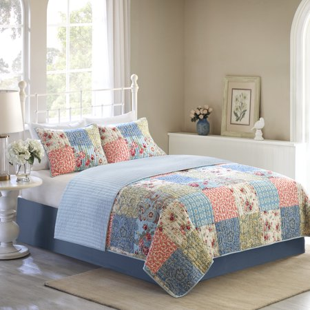 Mainstays Vintage Floral Patchwork Quilt Collection, 1 Each