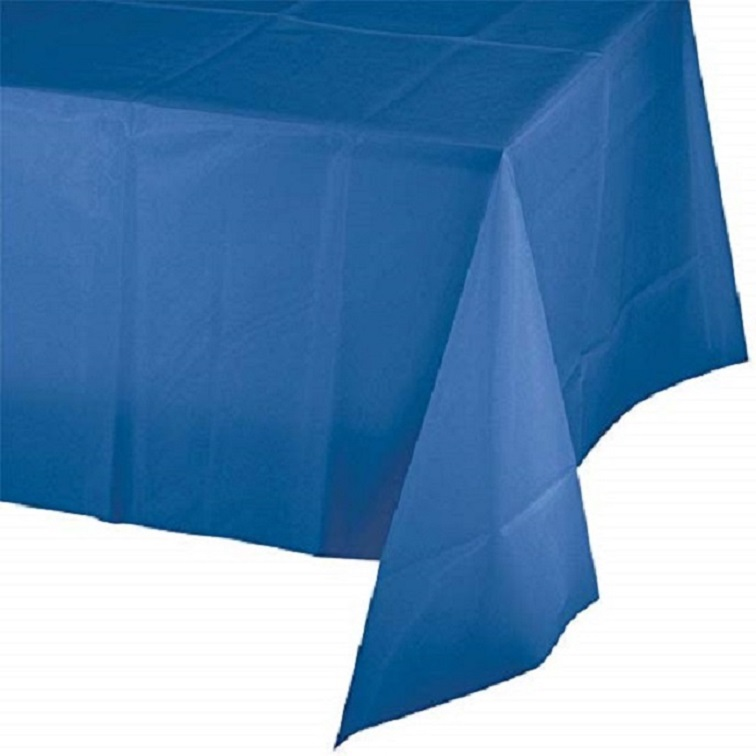 12 Piece Plastic Disposable Tablecloth 54 x 108 Inch Rectangle Table Cover