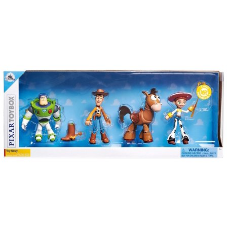 Toy Story Toybox Buzz Lightyear, Woody, Jessie & Bullseye Action Figure 4-Pack for $<!---->