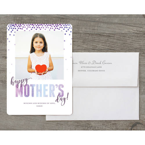 Watercolor Confetti Deluxe Mother's Day Greeting Card