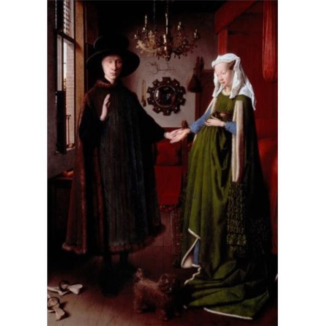 Superstock SAL900834 The Arnolfini Portrait 1434 Jan Van Eyck, 1390-1441 & Flemish Oil On Wood Panel National Gallery London England Poster Print, 18 x 24 - image 1 of 1