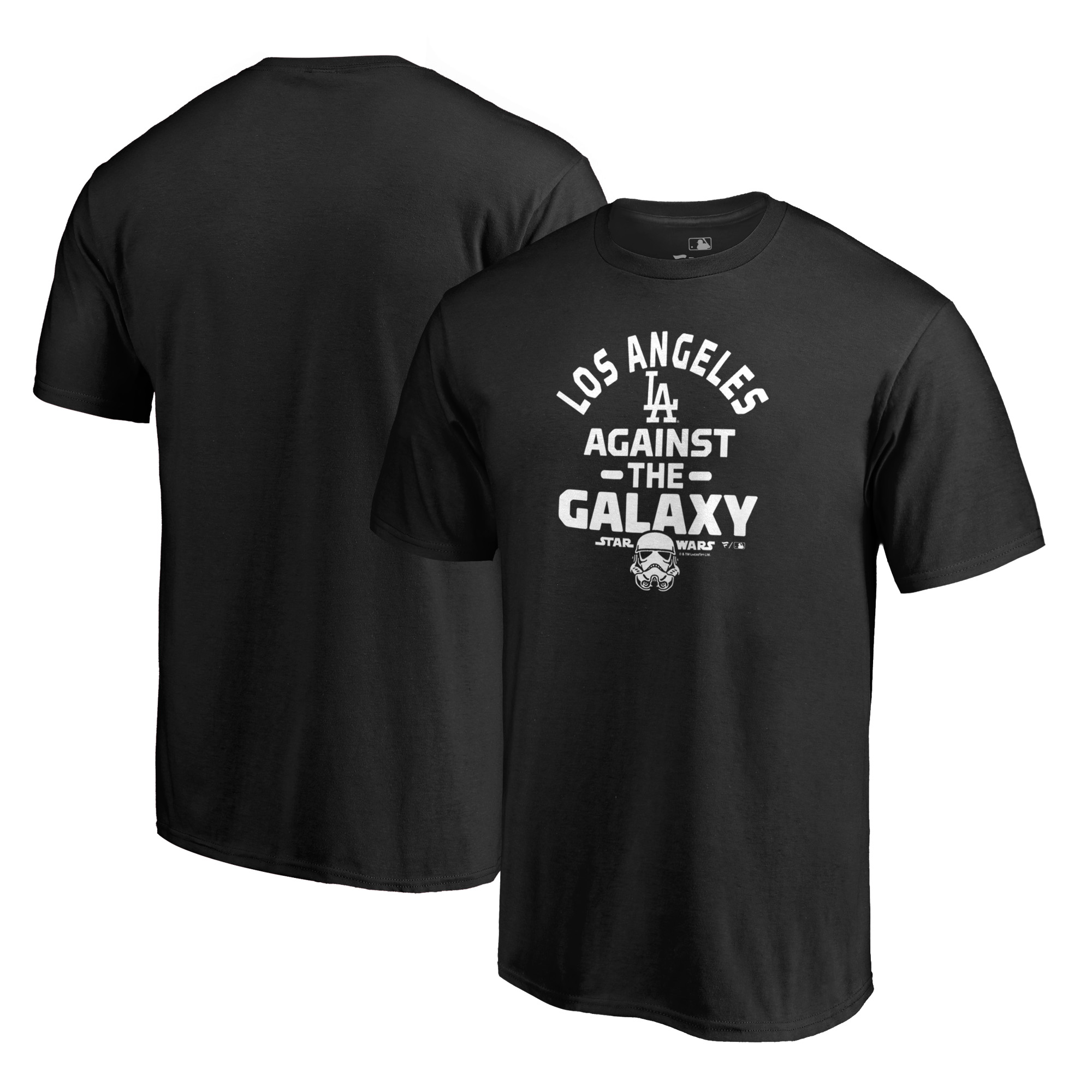 Los Angeles Dodgers Fanatics Branded MLB Star Wars Against The Galaxy T-Shirt - Black