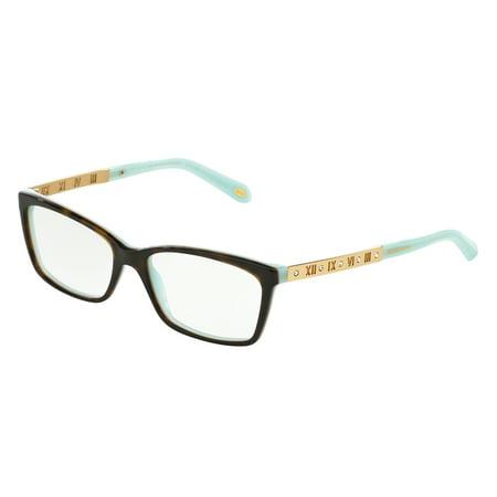 71951af5547 Tiffany Optical 0TF2103B Full Rim Rectangle Womens Eyeglasses - Size 53  (Havana Blue   Clear Lens) - Walmart.com