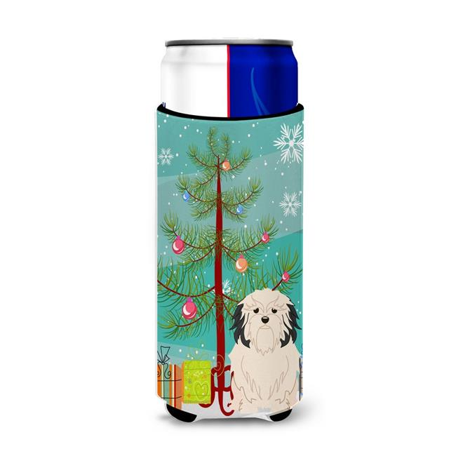 Carolines Treasures BB4144MUK Merry Christmas Tree Lowchen Michelob Ultra Hugger for Slim Cans - image 1 of 1