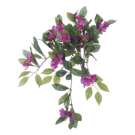 "OakRidge Artificial Impatiens Hanging Stem – Purple, 25"" Long – Faux Floral Home Décor for Indoor/Outdoor Use ()"