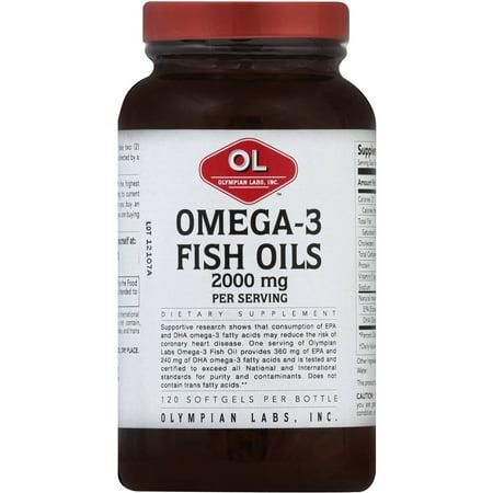 Olympian Labs oméga-3 huiles de poisson, 2000 mg, gélules, 120 CT