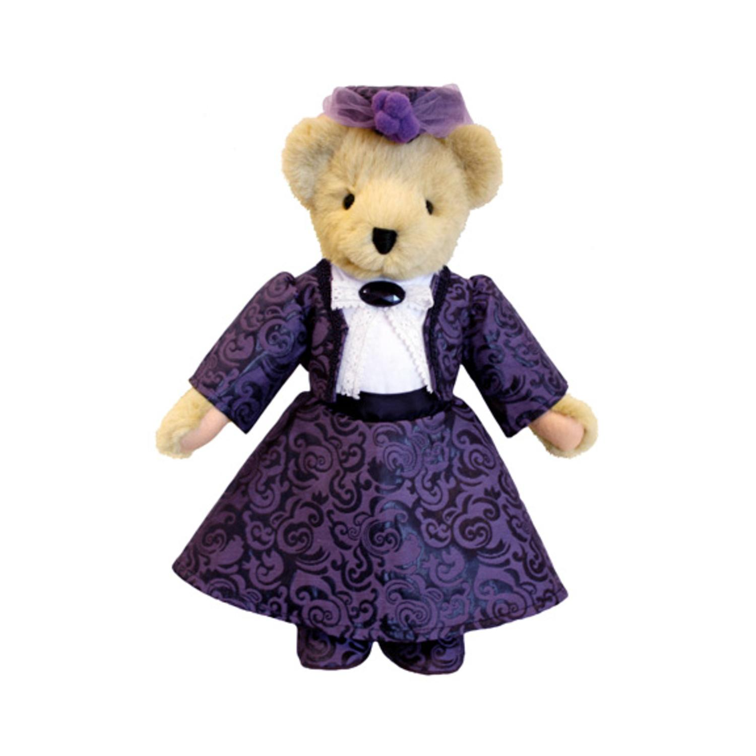 """13"""" Downton Abbey Dowager Countess of Grantham Violet Crawley Plush Collectible Teddy Bear by North American Bear"""