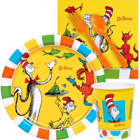 Dr. Seuss 1st Birthday Snack Pack - Dr Seuss 1st Birthday Plates