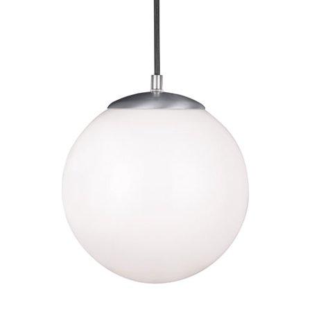 Sea Gull Lighting Hanging Globe 1 Light Pendant, Satin Aluminum - 6020EN3-04
