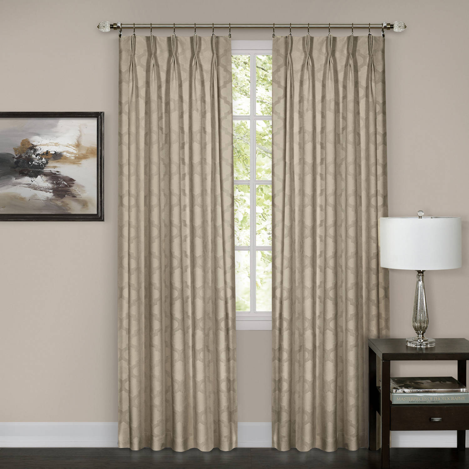 pinch pleated drapery drape darby pair curtains damask p drapes curtain pleat
