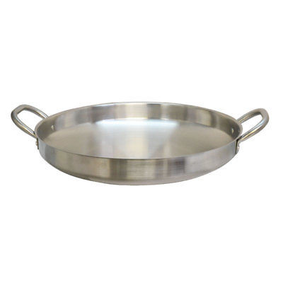 19'' Stainless Steel Camal Fried Griddle Caso Pot Pan Wok Gas Stove burner Cook Frying Pan by