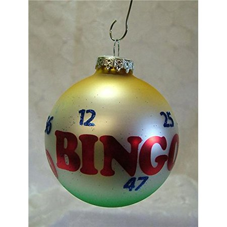 Glass BINGO Chips Bulb Game Numbers Marker Christmas Tree Ornament By On Holiday Ship from US
