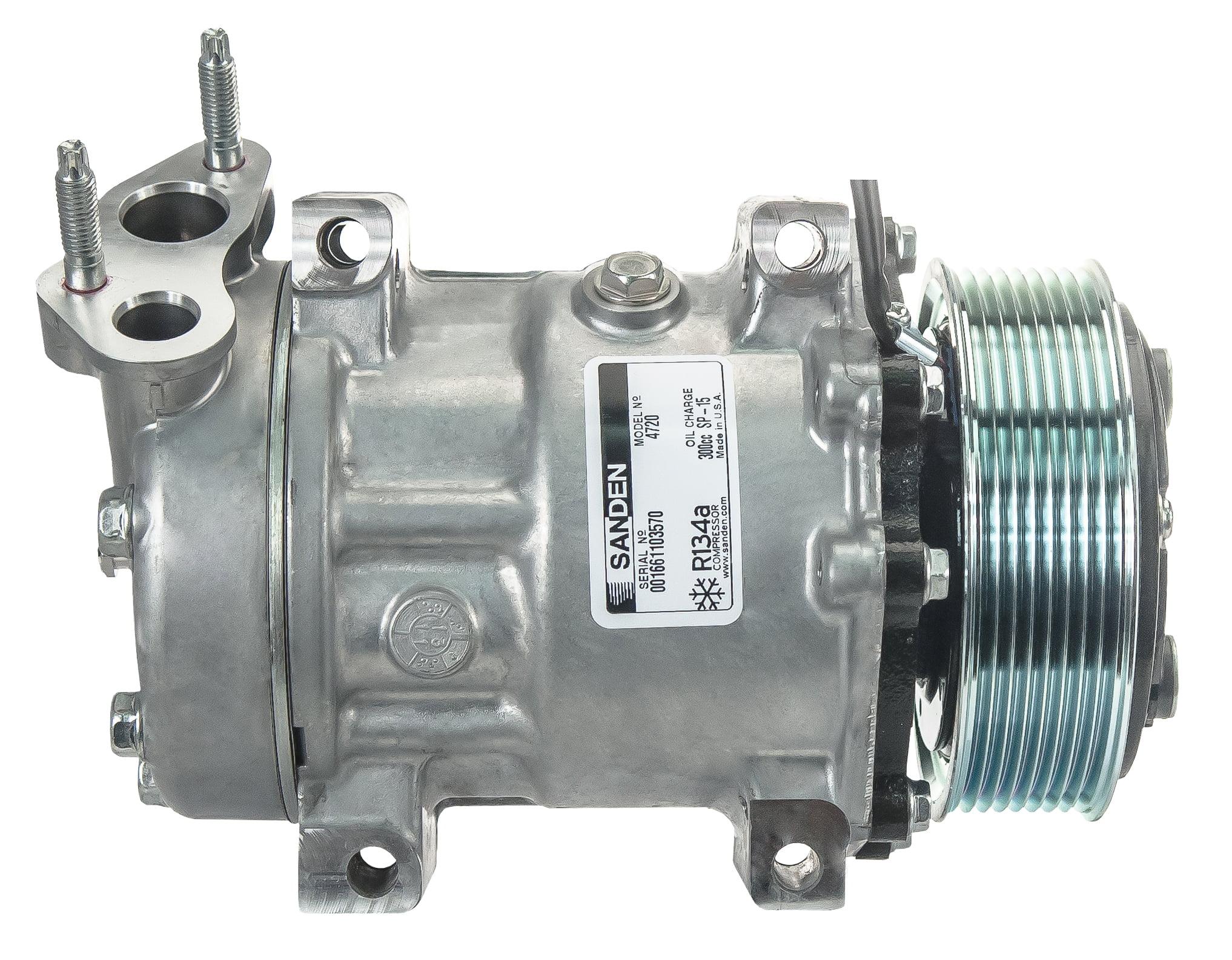 Sanden AC Air Compressor R134A - Freightliner, Volvo