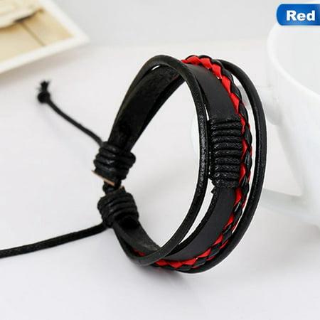 AkoaDa Braided Leather Bracelets and Bangles Multilevel Leather Bracelets Men  Male Bracelets Bangles Jewelry Boyfriend Best