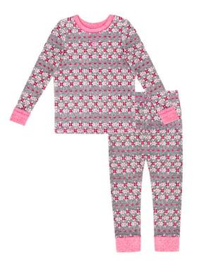 ClimateRight Toddler Girl Stretch Fleece Long Underwear, 2pc Set