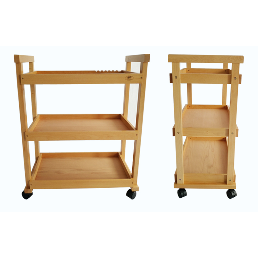Zimtown 3-Layer Art Drawing Tool Cart Holder - Painting Tools Rack Storage Movable Shelves Trolley US, Burlywood, Beech