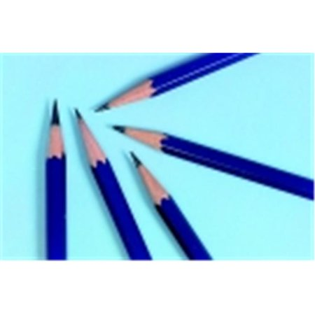 Hexagonal Non-Toxic Drawing Pencil - H Thin Tip, Blue, Pack 12