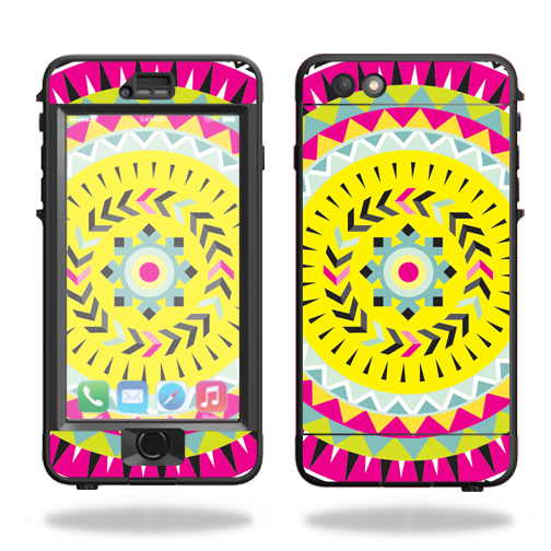 MightySkins Protective Vinyl Skin Decal for Lifeproof Nuud iPhone 6s Plus Case wrap cover sticker skins Pink Aztec