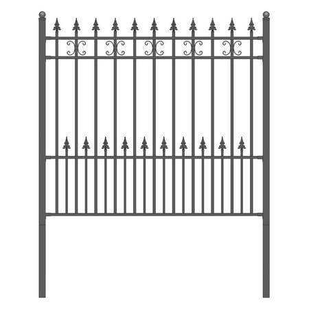 ALEKO Petersburg Style DIY Wrought Iron Steel Fence