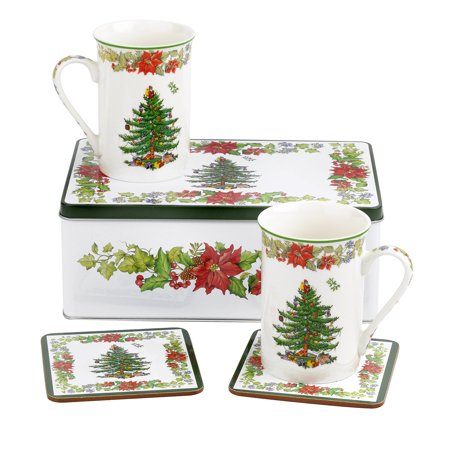 Spode Christmas Tree Dishwasher Safe - Spode Christmas Tree Napkin Holder with Salt & Pepper Set