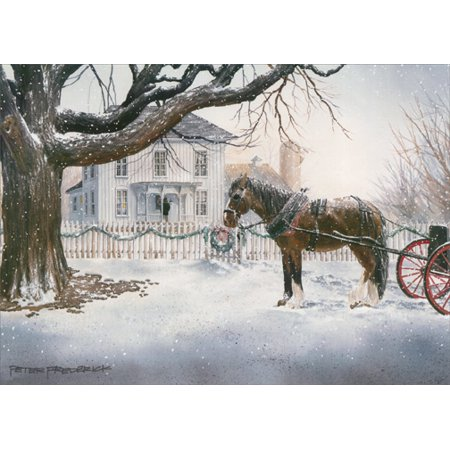 LPG Greetings Horse and Carriage Christmas Card