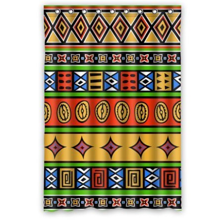 Hellodecor The Unique Bright Colors Pop Style Shower Curtain Polyester Fabric Bathroom Decorative Curtain Size 48X72 Inches