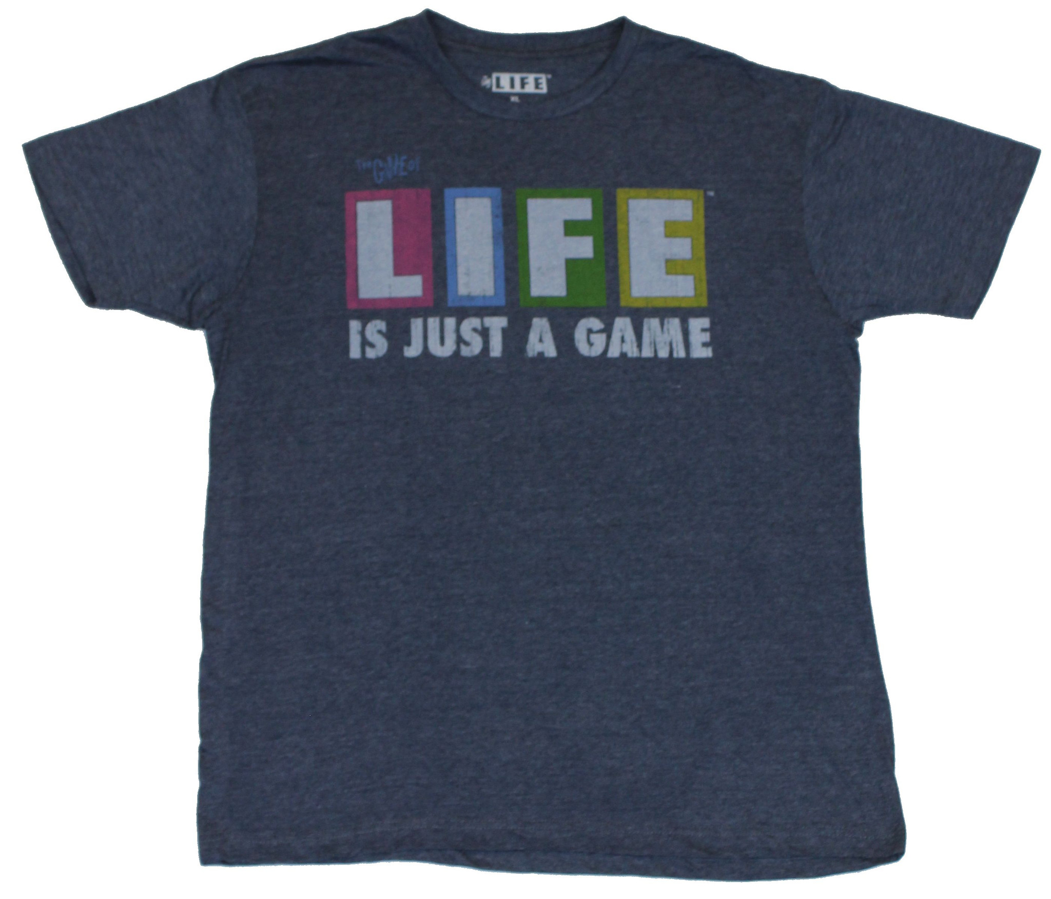 Life (the Game Of) Mens T-Shirt Life is Just A Game Milton Bradley Game L by