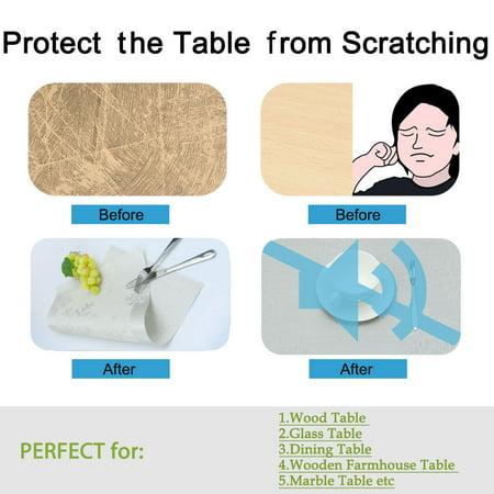 Placemats PVC Heat-resistant Non-slip Insulation Washable Table Mats 4pcs #19 - image 5 of 8