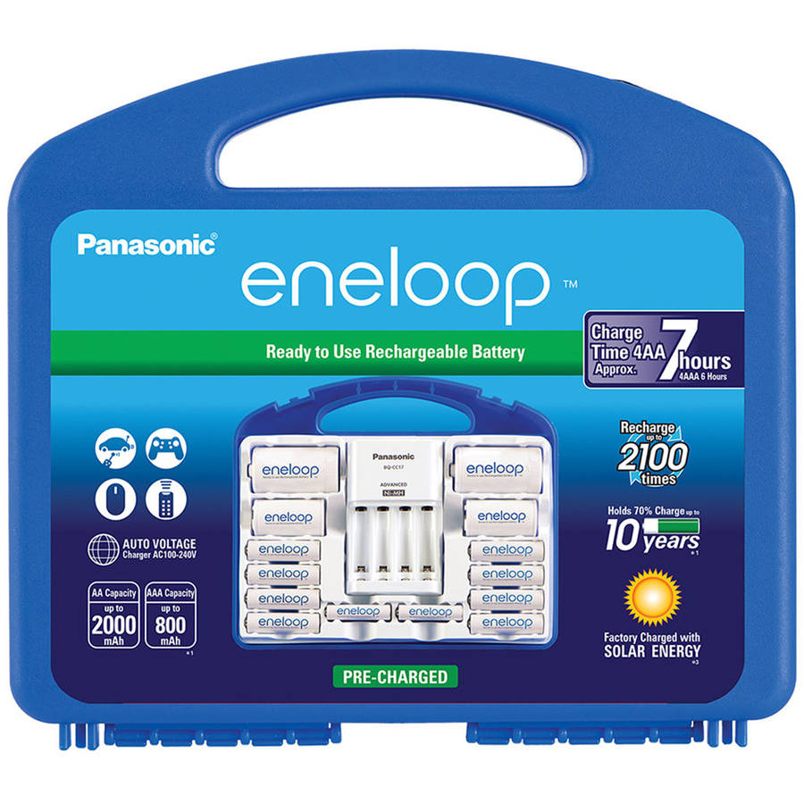 Panasonic K-KJ17MCC82A eneloop Multi-Pack Battery Kit