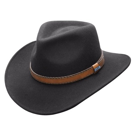 272b409bc03 Conner Hats - Conner Hats Men s Outback Creek Crushable Wool Hat Black M -  Walmart.com