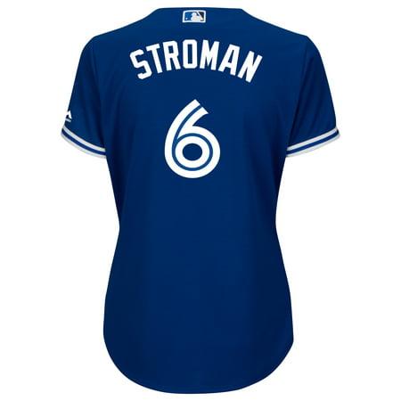 Ladies' Marcus Stroman Toronto Blue Jays Cool Base Replica Away Jersey - image 1 of 2